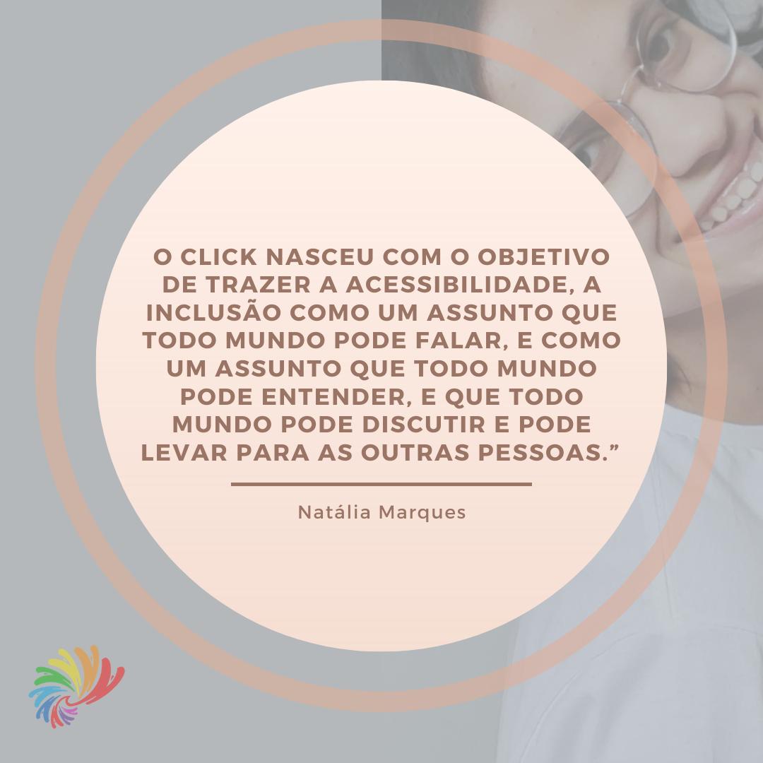 Click Inclusão: acessibilidade e inclusão através de palavras