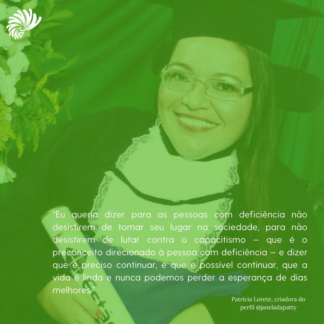 Janela da Patty: uma reflexão sobre o empoderamento da pessoa com deficiência